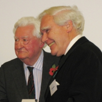 Lord Bramall and new Honorary Fellow Keith Lawrey JP