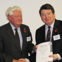 Lord Bramall and new Honorary Vice-President Stewart Kidd CSyP
