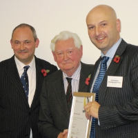 Mike Bluestone, Lord Bramall and new Chartered Security Professional Richard Stones CSyP