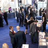 Delegates and exhibitors at Manchester 2012
