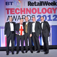 Loss prevention and Online Security Solution of the Year - Argos with VSG - Project Synergies Winner (Image Courtesy of Retail Week Technology Awards 2012)