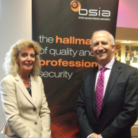 BSIA Chief Executive, James Kelly, with Scottish Government's Solicitor-General, Lesley Thomson QC