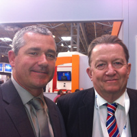 Paul Tennant (Left) Chairman of the Training Providers Section and fellow member Bobby Logue (right)