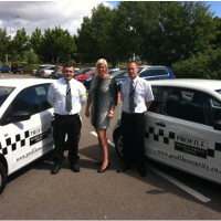 Nicky Williams, Business Develop Manager and Mobile Response Officers Ashley Knight and Dan Colsey