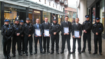The Accredited Europa Security Team at Princesshay Shopping Centre with Devon and Cornwall Police