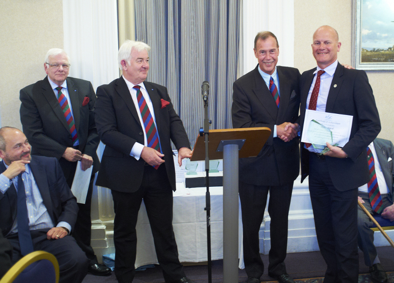 Lord Brian Mackenzie of Framwellgate (ASC Patron) presents award to Peter Finch