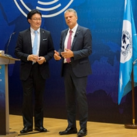 Right: Mr Troels Oerting, Assistant Director and Head of European Cybercrime Centre (EC3), Europol. Left: Noboru Nakatani, Executive Director, INTERPOL